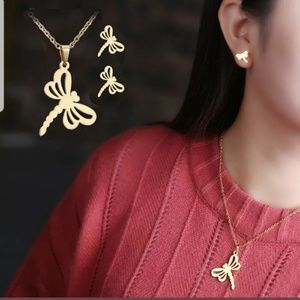 New Hollow Out Dragonfly jewelry set
